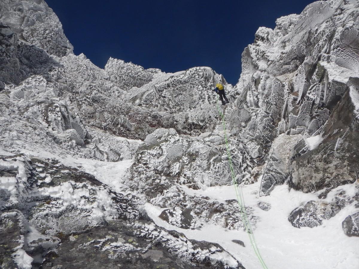 大同心稜から横岳縦走