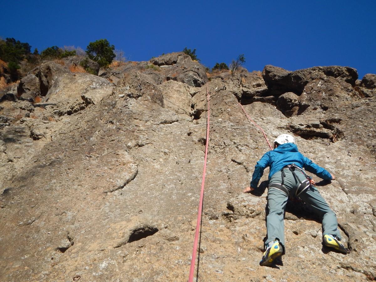 三つ峠岩登りとロープワーク/懸垂下降講習2日間