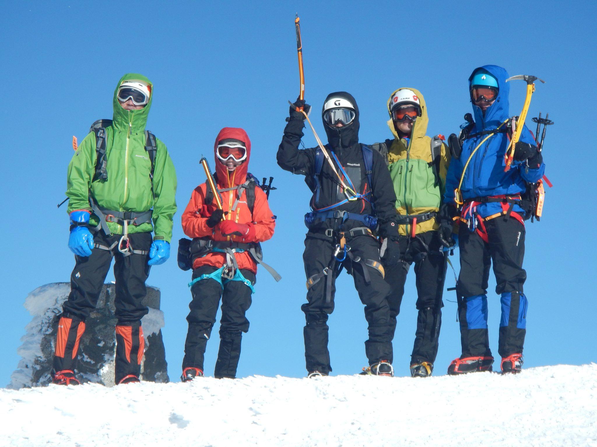 宝剣岳とアイゼン+ピッケル講習+滑落停止訓練2日間