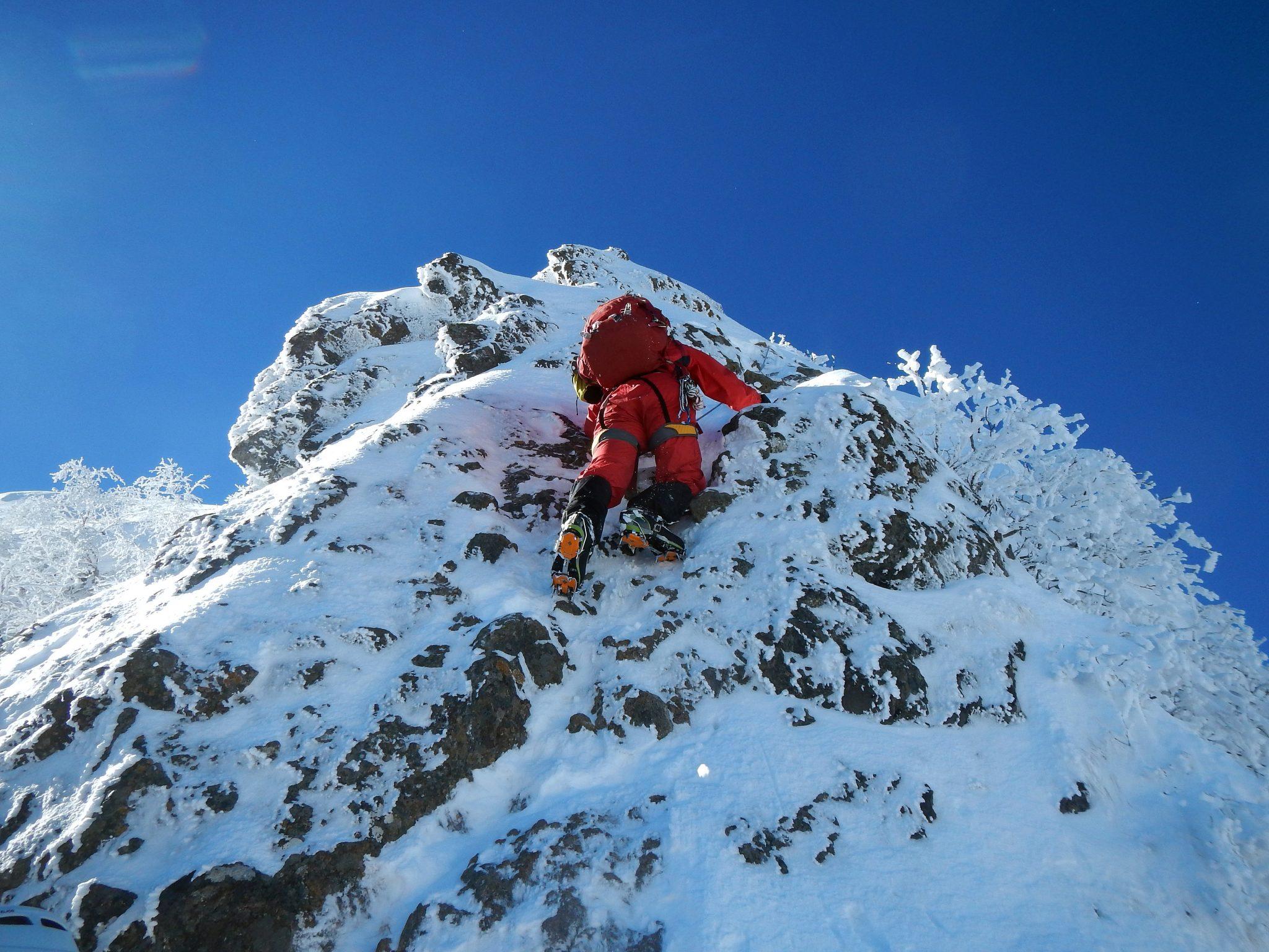 阿弥陀岳北稜とアイスクライミング