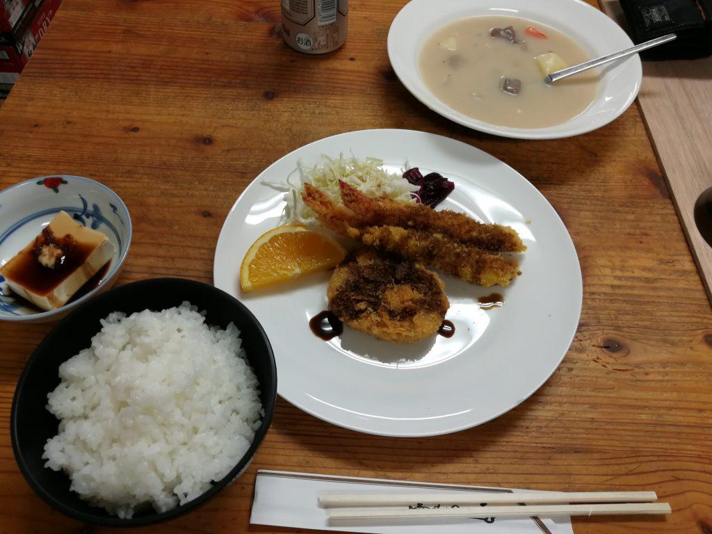 剱沢小屋 夕食