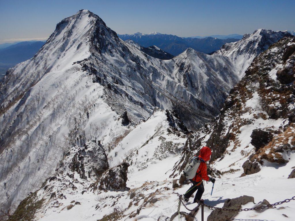 大同心稜から横岳
