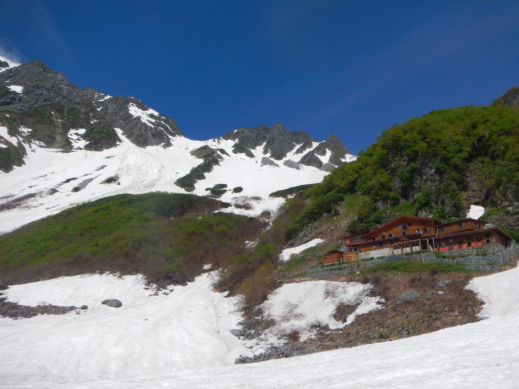 残雪の奥穂高岳3日間